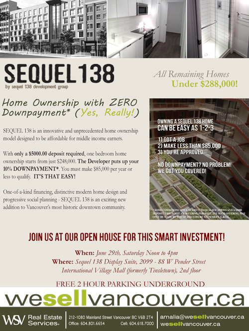 Sequel Open House, June 29th 12-4pm